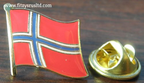Norway Norwegian Country Flag Lapel Hat Cap Tie Pin Badge - Kongeriket Norge New